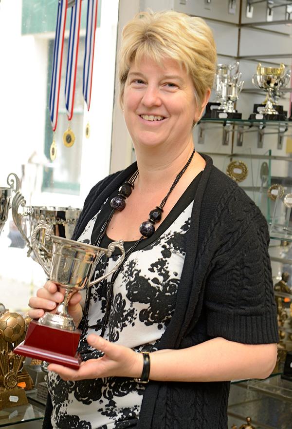 Lisa Ricketts, Proprietor of Hopmarket Trophies